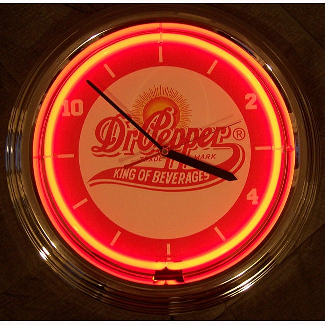 Dr Pepper Neon Clock Free Shipping Today Overstock