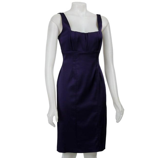 Calvin Klein Women's Stretch Satin Sheath Dress