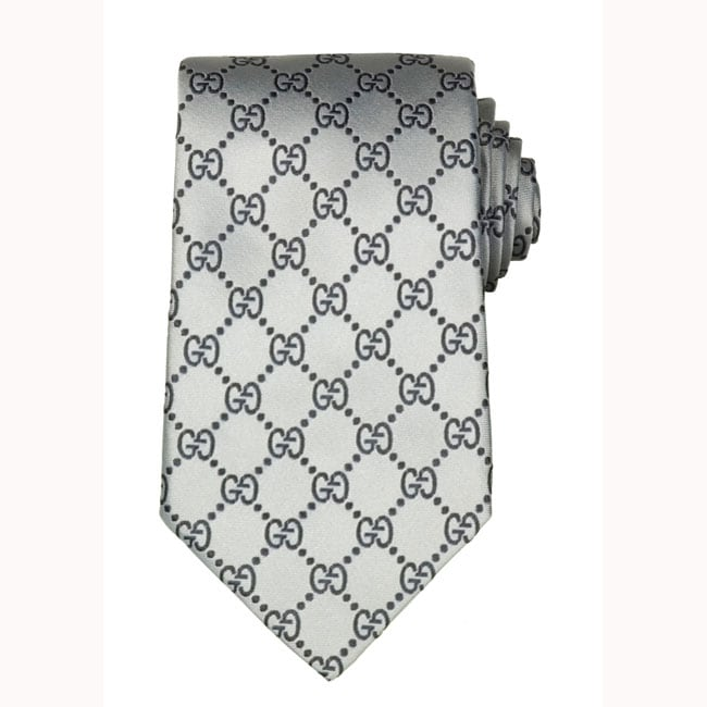 6411b38c42eaa Shop Gucci GG Pattern Silk Tie - Ships To Canada - Overstock.ca ...