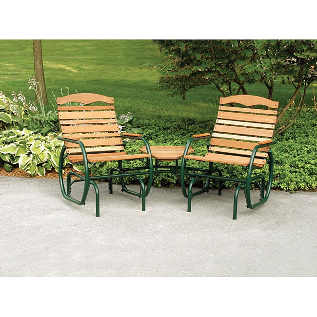 Hi Back Tete A Outdoor Chair And Bench Set Free Shipping Today 4072608