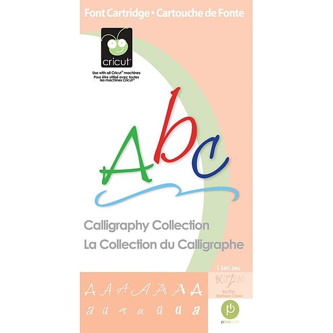 Provo Craft Cricut Calligraphy Font Cartridge Free