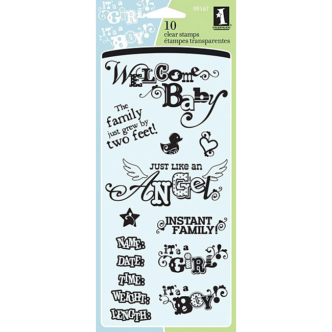 Inkadinkado 'Welcome Baby' Clear Stamps