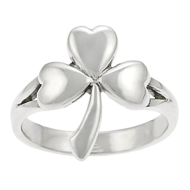 Journee Collection Sterling Silver Shamrock Ring