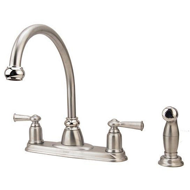 Moen Banbury Collection 2 Handle Kitchen Faucet With Side