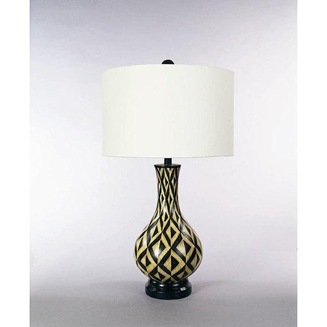 Zebra Wood Finish Table Lamp Free Shipping Today