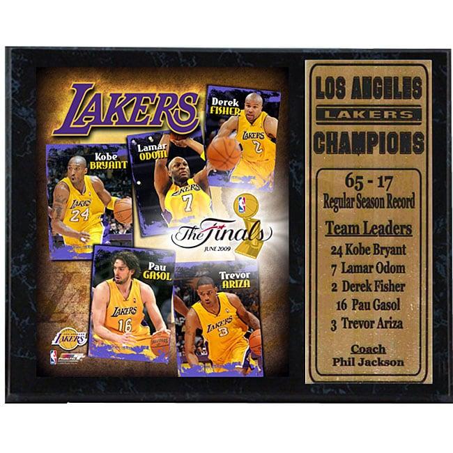 2009 Lakers Finals 12x15 Stat Plaque