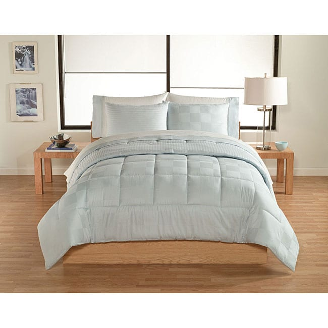 Maxim Box Hotel Blue 7-piece Comforter/ Sheet Set