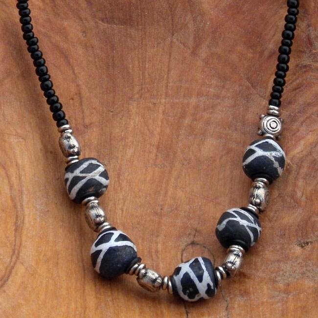'Blue Beads' Beaded Necklace (Kenya)