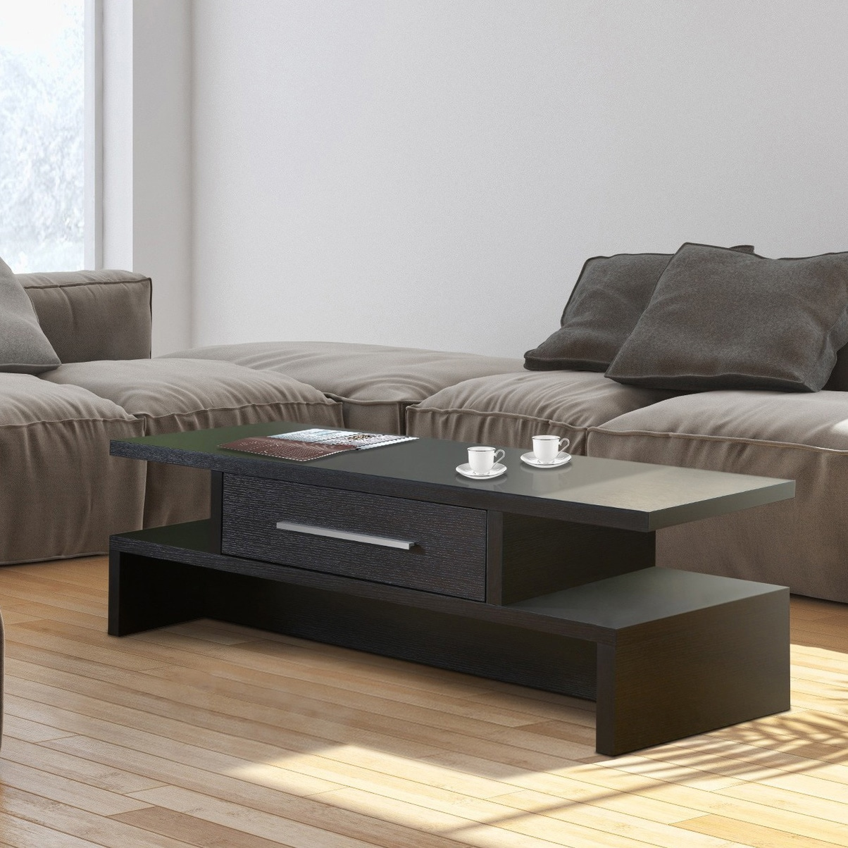 Shop Clay Alder Home Sachs Two Side Open Coffee Table   Free Shipping On  Orders Over $45   Overstock.com   4079436