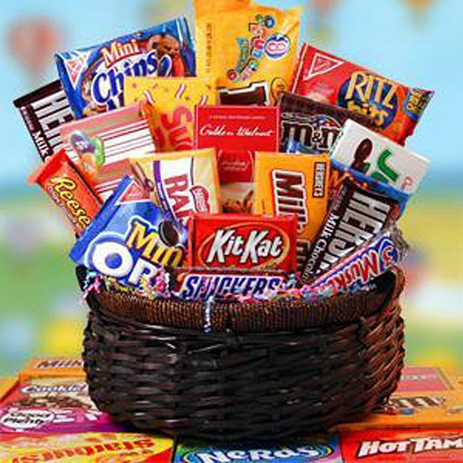 Candy Explosion Gift Basket
