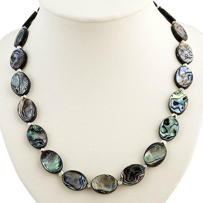 Abalone Shell Silver Necklace (Thailand)