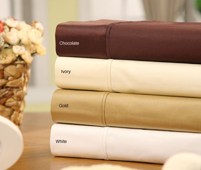Sateen Solid Combed Cotton 1000 Thread Count Sheet Set