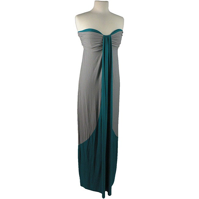 Shop T-Bags Women s Silver  Turquoise Strapless Dress - Free ... 53d3b4cebd02