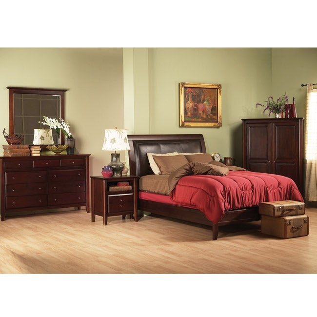 City Low Profile 5 Piece King Size Bedroom Set