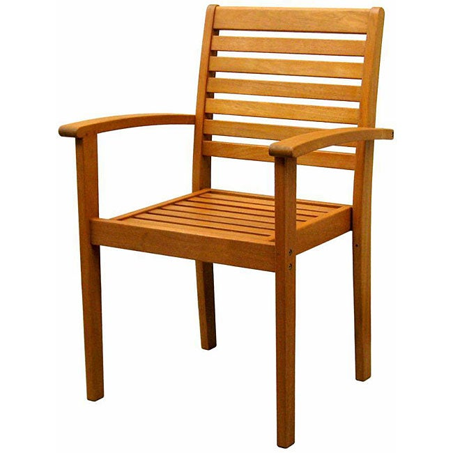 Royal Tahiti Yellow Balau Wood Kd Oslo Chair Free Shipping Today 4089627
