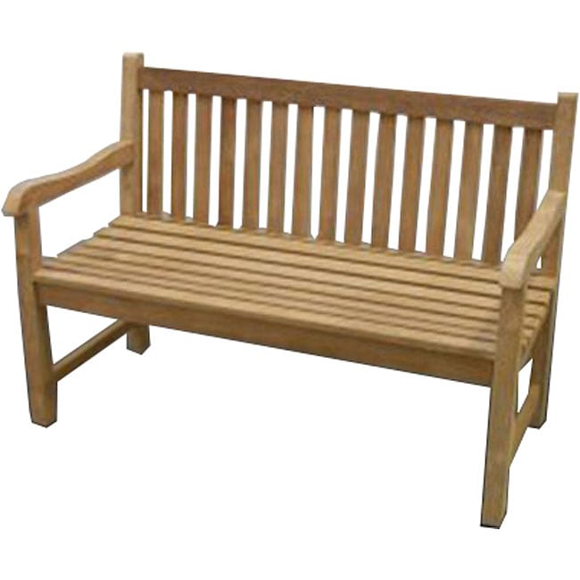 Solid Teak 4 foot London Bench Free Shipping Today Overstock