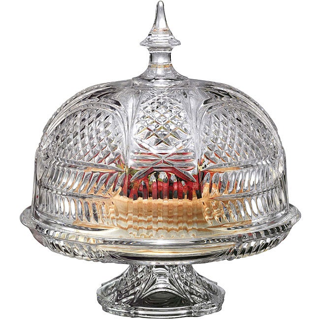 Shannon Lexington Footed Crystal Cake Dome Free