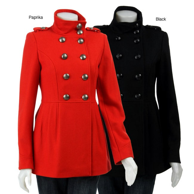 351c2a21b6a5 Shop Miss Sixty Women s Military-style Wool Coat - Free Shipping Today -  Overstock - 4093543