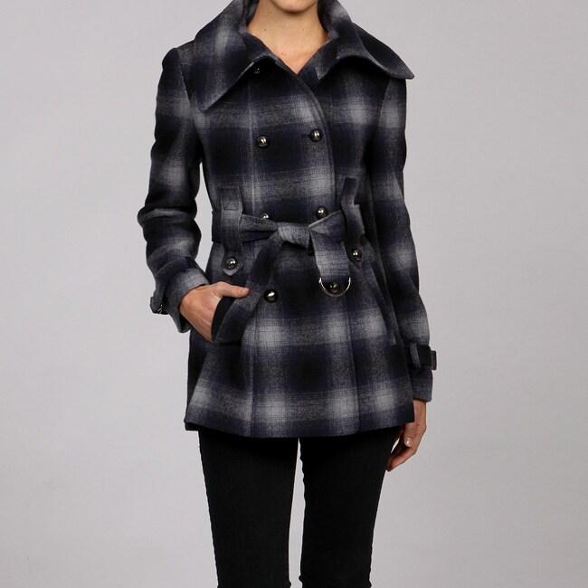 Miss Sixty Women's Belted Wool Blend Coat