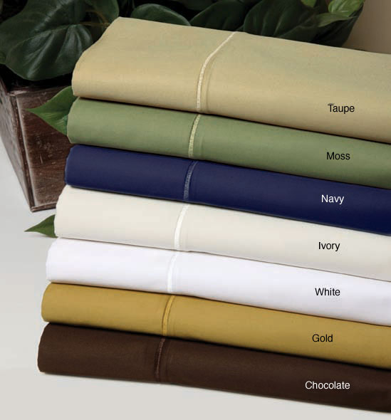 Egyptian Cotton 550 Thread Count Solid Sheet Set