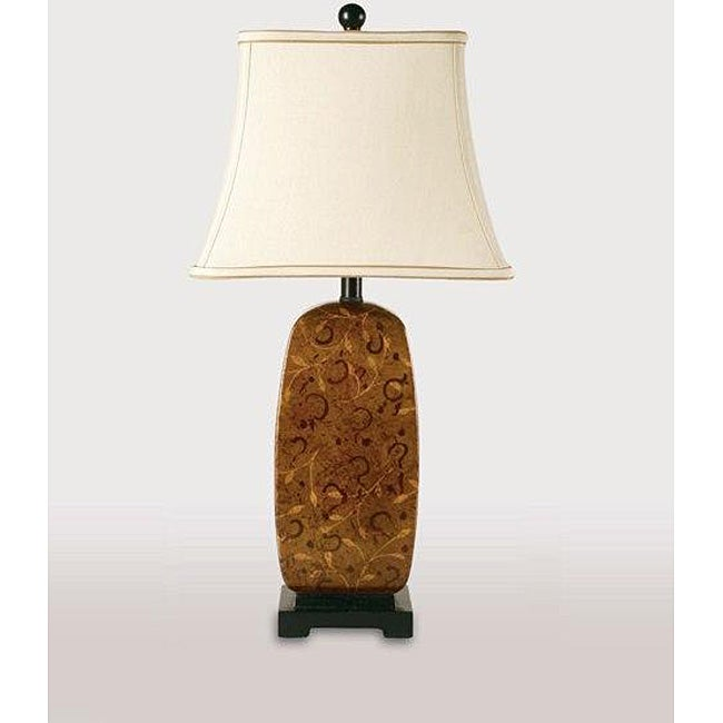 Tortoise Shell Table Lamp With Black Base Pack Of 2