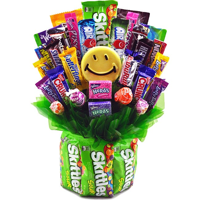 Sweets in Bloom Skittles and Grins Gift Basket