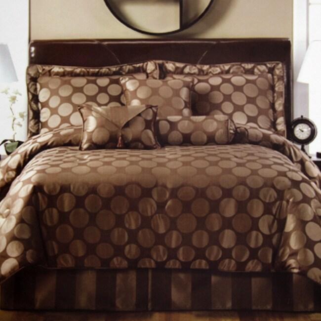 Circle Line Chocolate 7-piece Comforter Set