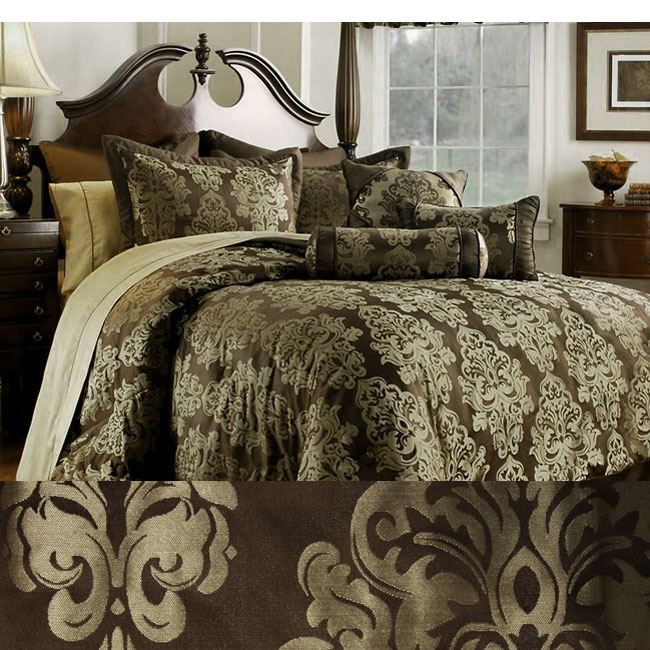 Fiore Chocolate/ Brown 8-piece Comforter Set