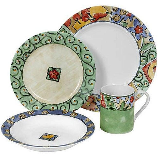 Corelle Watercolors 16 Piece Dinnerware Set Free