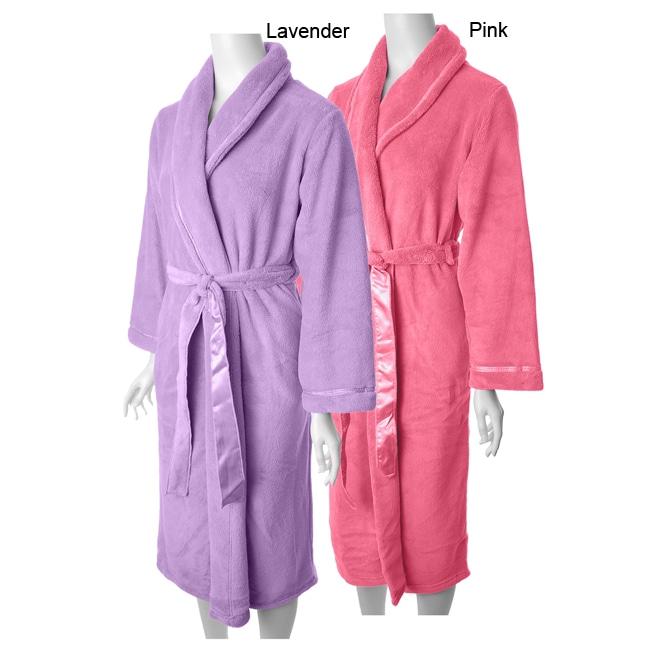 0aa7a404df Shop Anne Lewin Women s Cozy Fleece Wrap Robe - Free Shipping On Orders  Over  45 - Overstock - 4100109