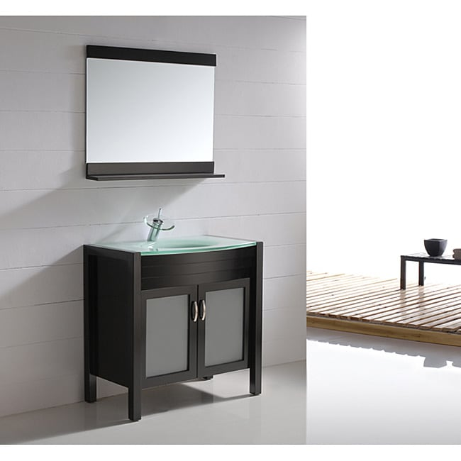 Virtu USA Ava 36-inch Single Sink Bathroom Vanity Set