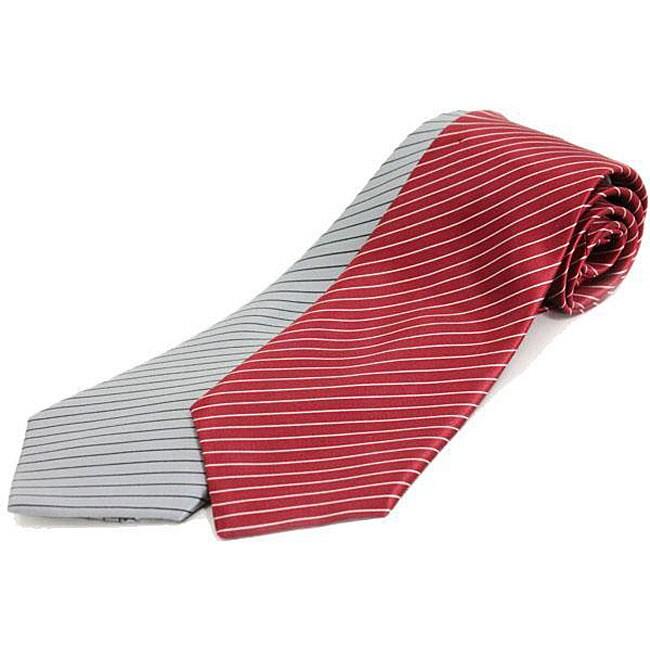 Brioni Thin Stripe Silk Necktie