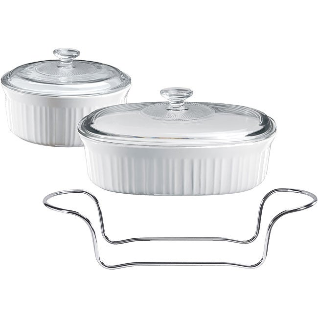 Corningware French White 5 Piece Serving Set Free