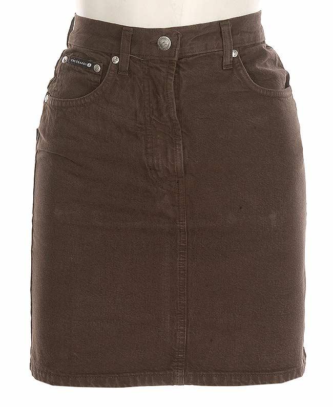 Trussardi Women's Brown Denim Skirt - Free Shipping On Orders Over ...