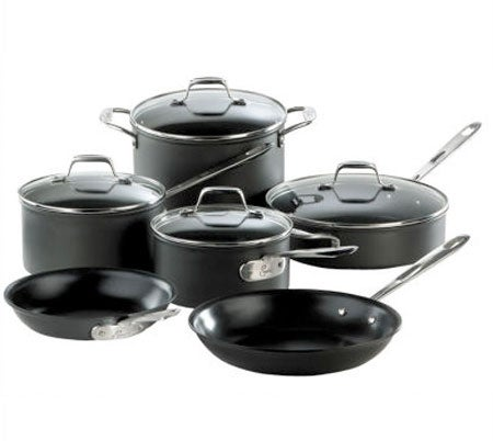 Emerilware by All-Clad Hard Anodized 10-piece Cookware Set