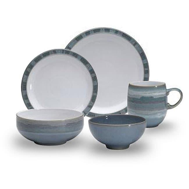 Denby Azure Coast 20 Piece Dinnerware Set