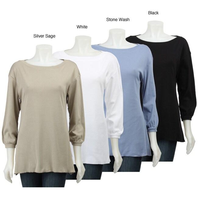 AtoZ Women's Drop Shoulder Top