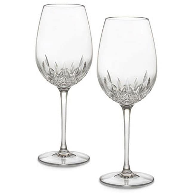 waterford lismore essence red wine goblets set of 2