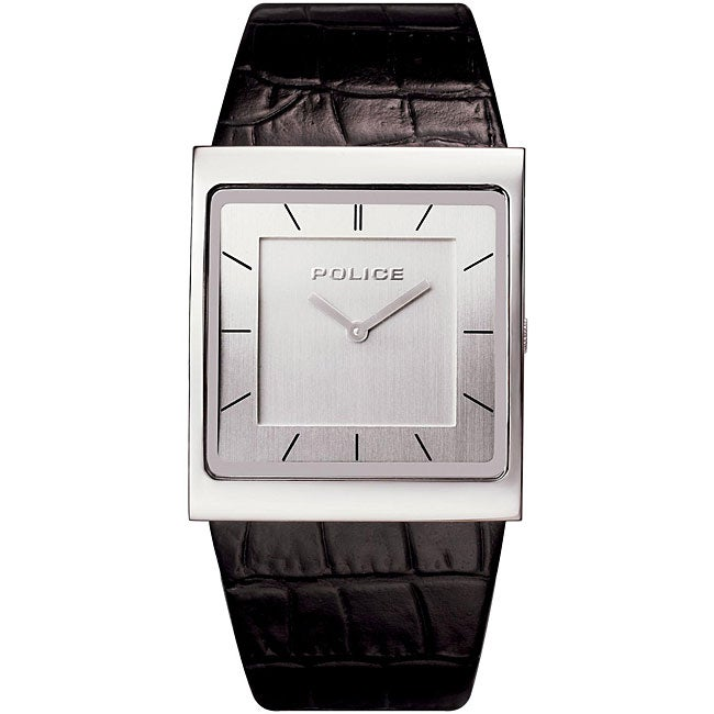 police men s slim square shape silver watch shipping today police men s slim square shape silver watch
