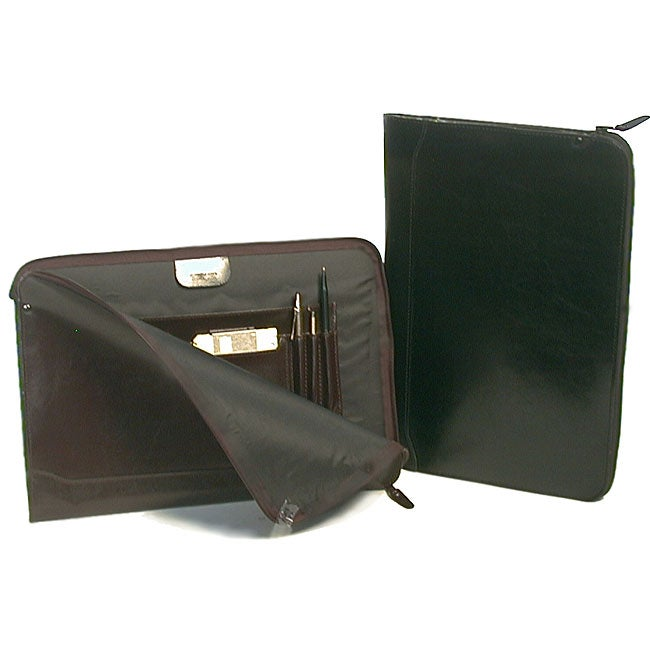 Premium Burgundy Leather Underarm Portfolio Case