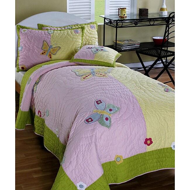 Cottage Home 'Isabelle' 3-piece Twin-size Quilt Set