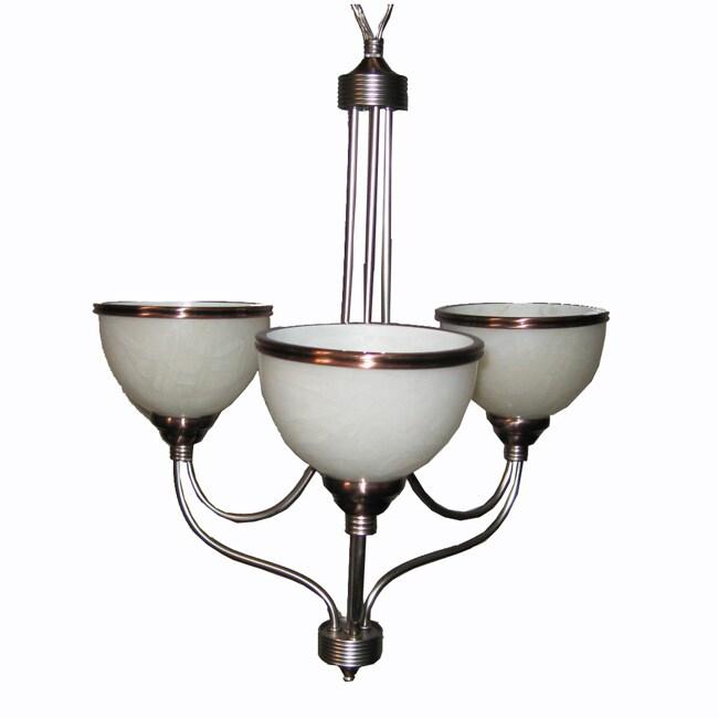 Windsor 3-light Brushed Steel Chandelier