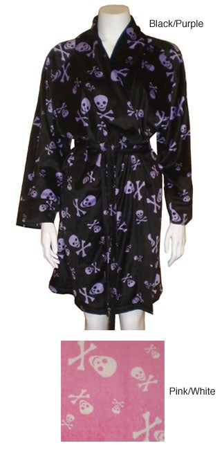 Smiling Skulls Super Soft Plush Robe