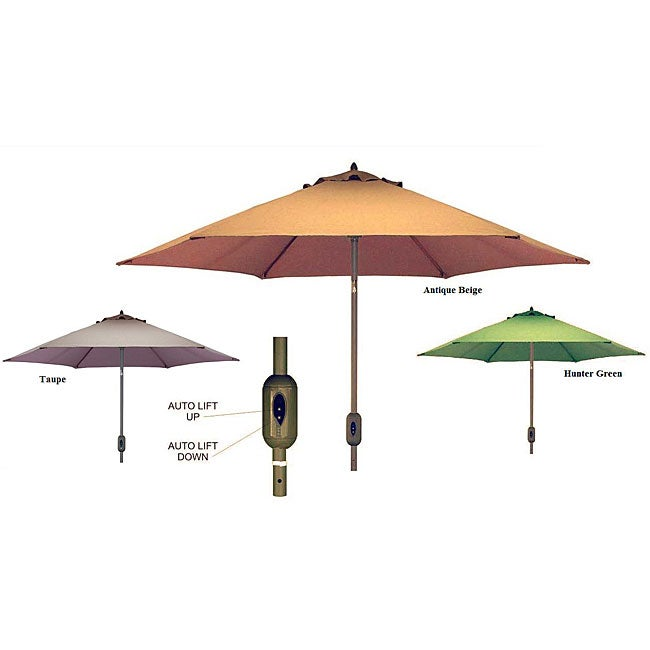 Fully Automatic 9 Foot Patio Umbrella With Sunbrella Fabric