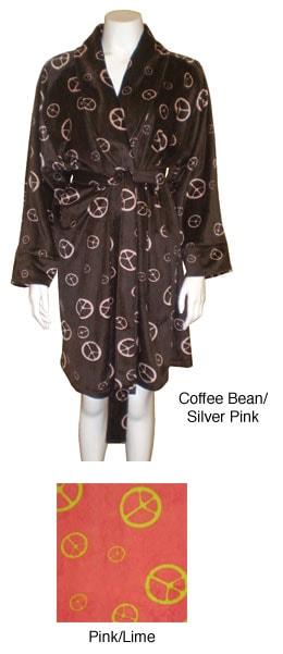 Peace Sign Super Soft Plush Robe