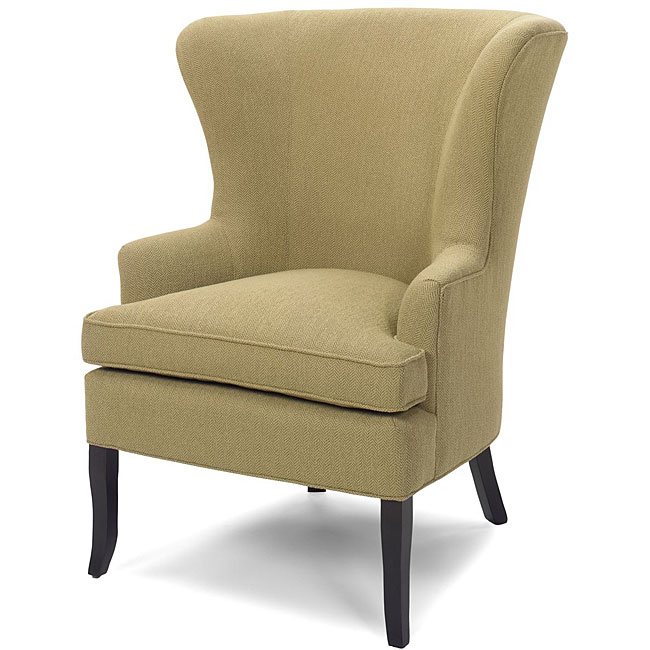 Delightful Eco Friendly Goose Wing Chartreuse Chair