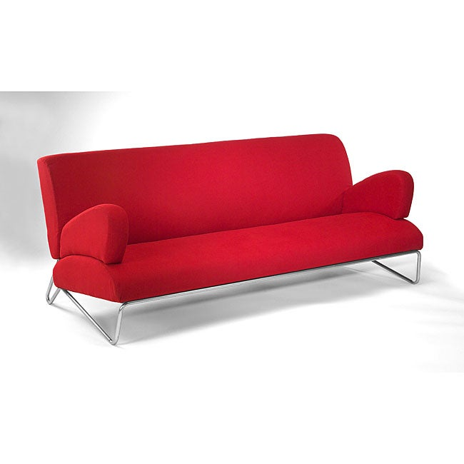 Easy Rider Red Microdenier Couch Free Shipping Today