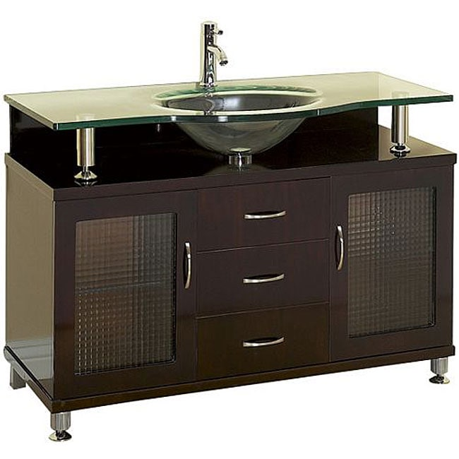 48-inch Espresso Finish Single Sink Bathroom Vanity