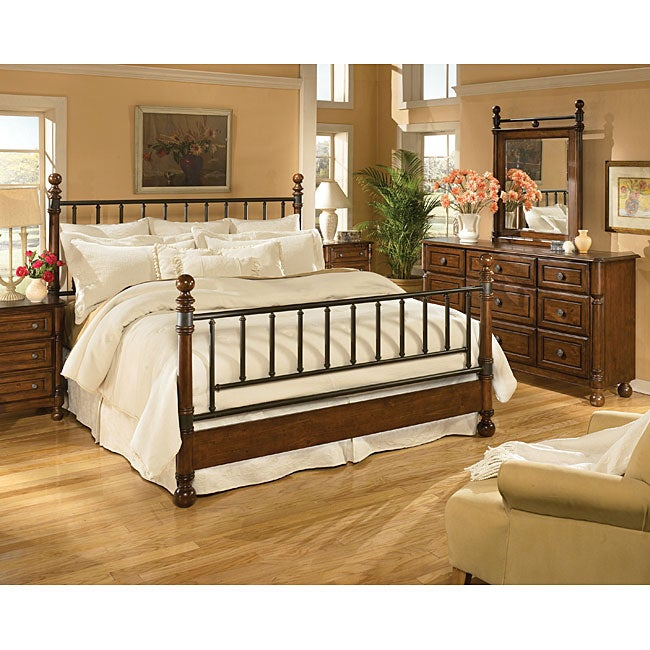 knob creek queen 4 piece bedroom furniture set - Shipping Bedroom Furniture