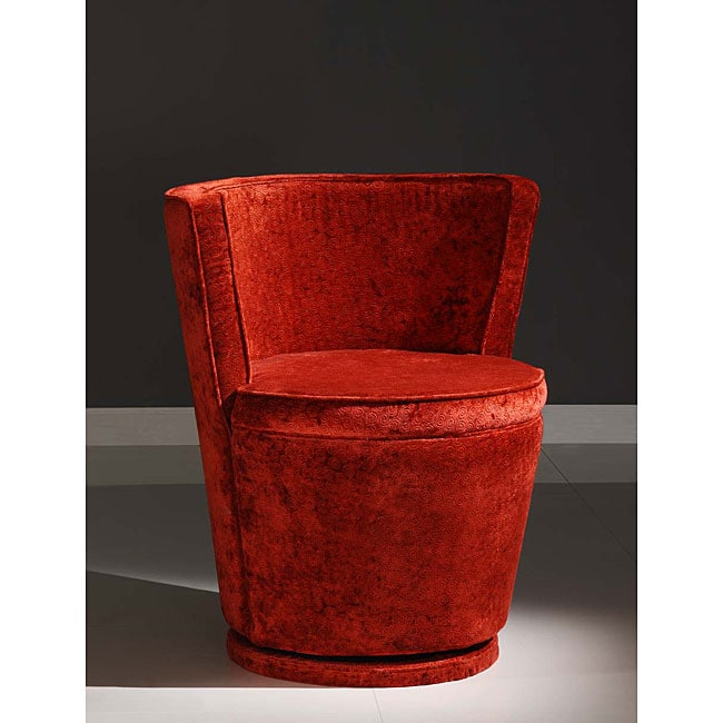 Shop Carousel Red Swivel Chair Free Shipping Today